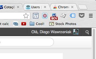 widget de cotações google chrome