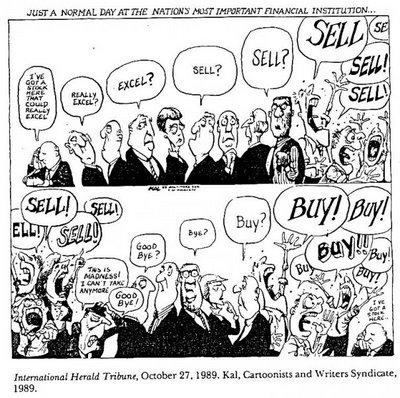 O dia-a-dia da bolsa de valores: um mercado entre a racionalidade, as manias e euforias.