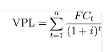 formula valor presente liquido