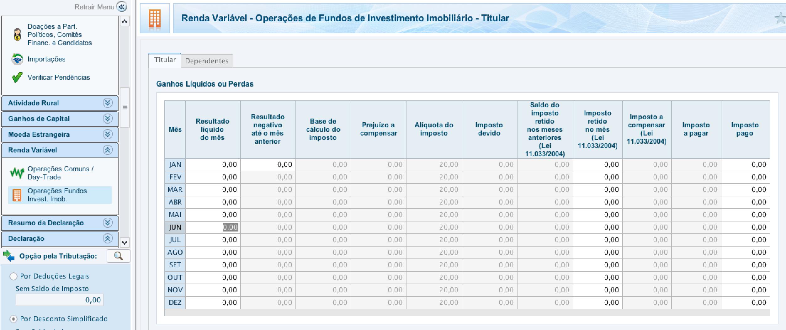 declaracao fundos imobiliarios imposto de renda