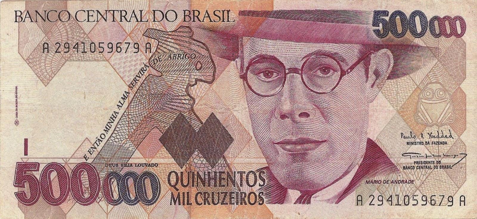 moedas do brasil cruzeiro 500000