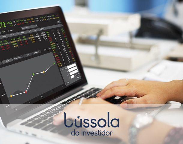 Imagem de computador com gráficos de possível IPO na tela
